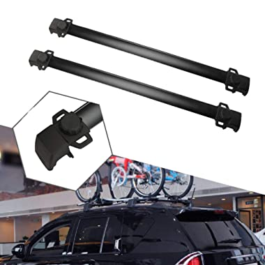 ALAVENTE Roof Rack Cross Bars System Compatible for Jeep Compass 2011 2012 2013 2014 2015 2016 (Black)