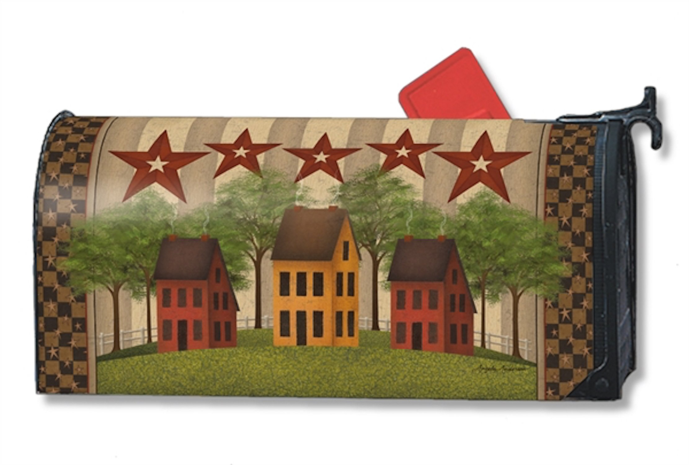 Saltbox Houses Large MailWraps Magnetic Mailbox Cover #21337