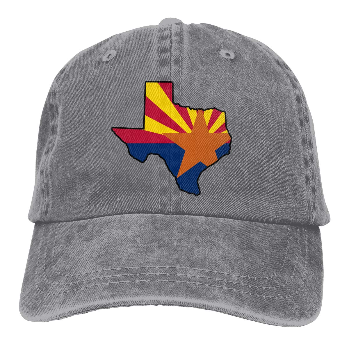 Texas Arizona Flag Unisex Custom Jeans Hip Hop Cap Adjustable Baseball Cap