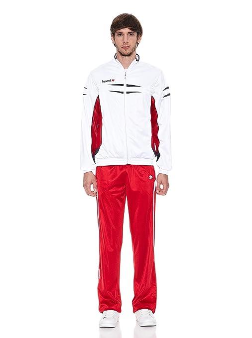 Luanvi Chándal Acetato Kenia Blanco/Rojo M: Amazon.es: Deportes y ...
