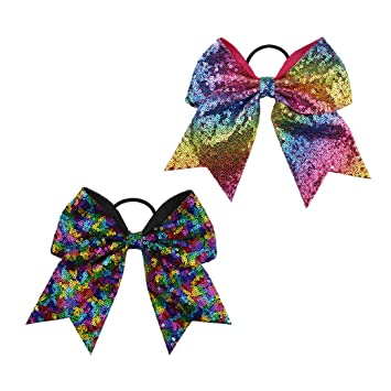 latest discount sports shoes biggest discount Amazon.com : Girls Cheer Bow Ponytail Holder Big Hair Bow ...
