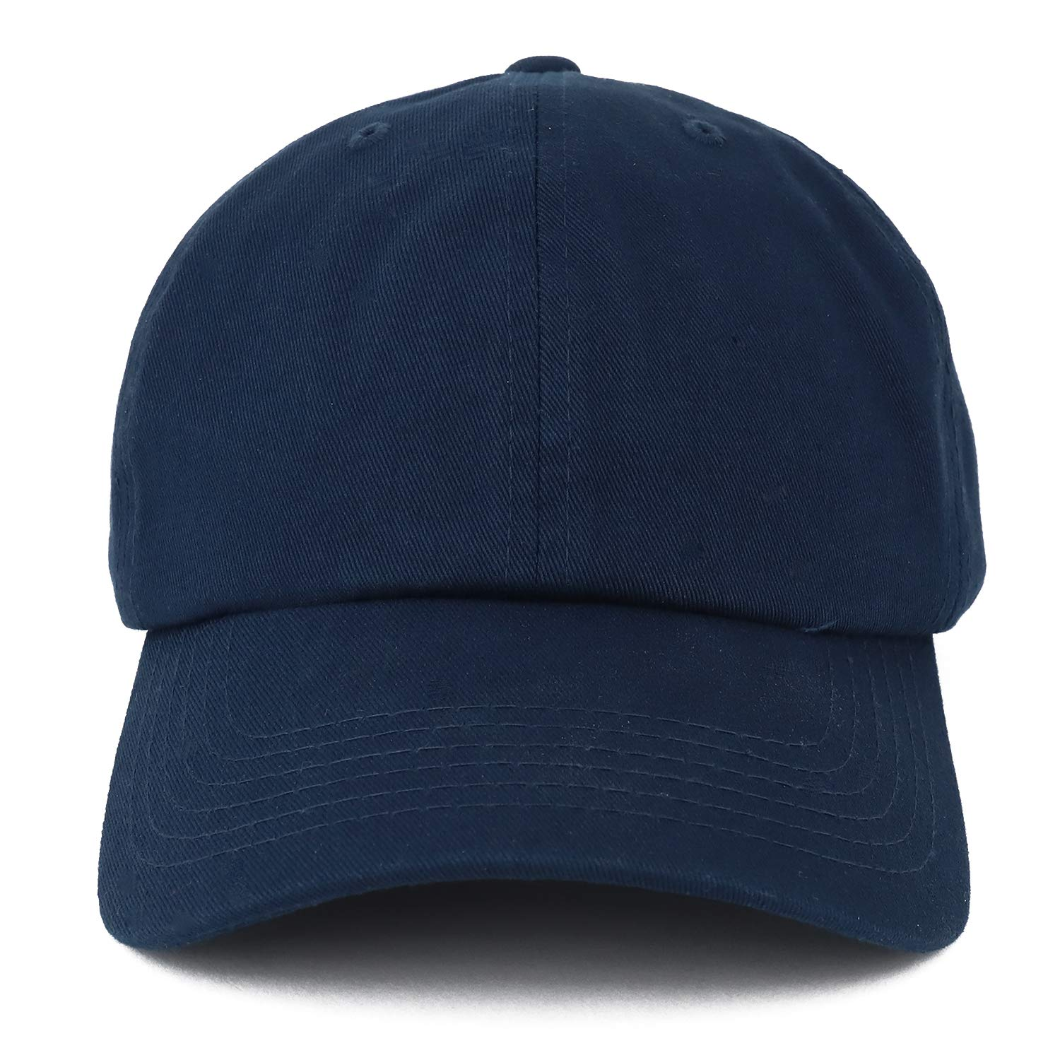 1e3585ff Trendy Apparel Shop Oversize XXL Plain Unstructured Soft Crown Cotton Dad  Hat