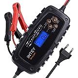 INTEY Chargeur de Batterie Intelligent pour Voiture Moto Bateau 6V/12V Choix Idéal pour L'entretien des Batteries Plomb-Acide, au Lithium ou AGM … …