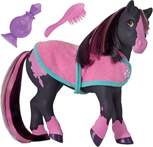 "Breyer Horses Color Changing Bath Toy | Jasmine the Horse | Black / Pink with Surprise White Color | 7"" x 7.5"" 