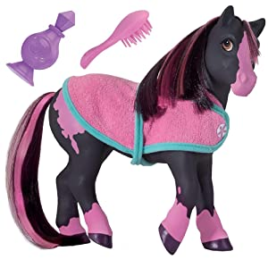"""Breyer Color Changing Bath Toy, Jasmine the Horse, Black / Pink with Surprise White Color,7"""" x 7.5"""""""