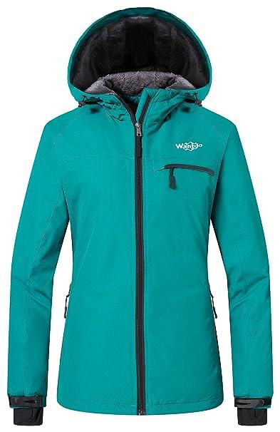 Wantdo Capucha de Montaña para Mujeres al Aire Libre Fleece Chaqueta Rompevientos Impermeable de Esquí: Amazon.es: Ropa y accesorios