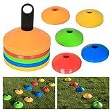Yahee 50 Coni per allenamento di calcio Coni di segnalazione colorati