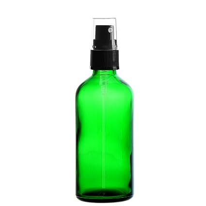 5 x verde vial de vidrio 100 ml/botella con pulverizador de bomba/cabezal