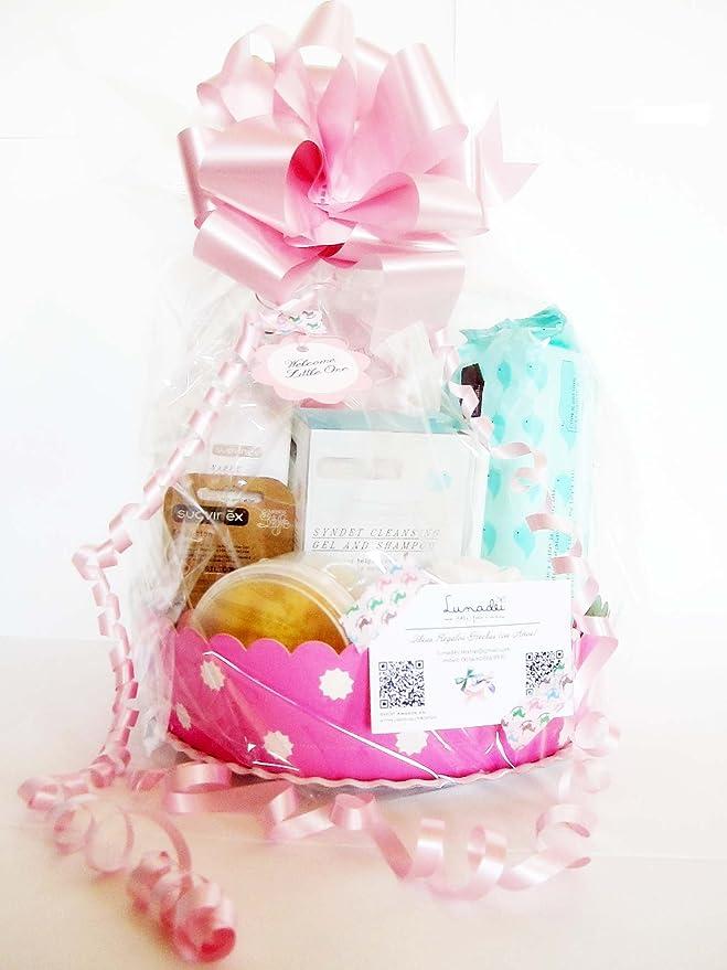 MAXI CANASTILLA SUAVINEX | Regalo Original para Bebé | Incluye 6 productos SUAVINEX + un Maxi Cupcake (1 body de marca + 1 pañal DODOT) | Versión Rosa, ...