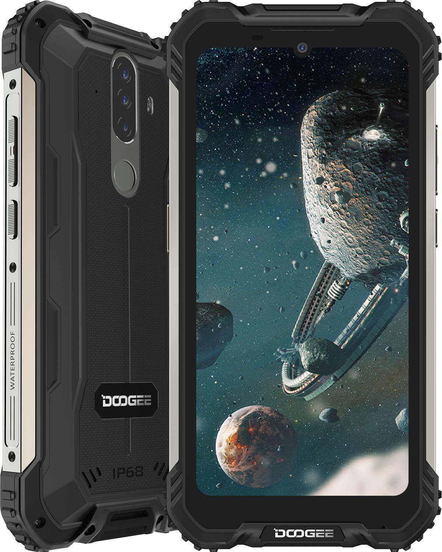 Smartphone, DOOGEE S58 Pro Android 10 Móvil Resistente 4G, Cámara Triples 16MP+Cámara Frontal 16MP, 6GB+64GB-SD 256GB, Batería 5180mAh, 5.7 Pulgada IP68/IP69K Telefono Movil Antigolpes, NFC/GPS, Negro