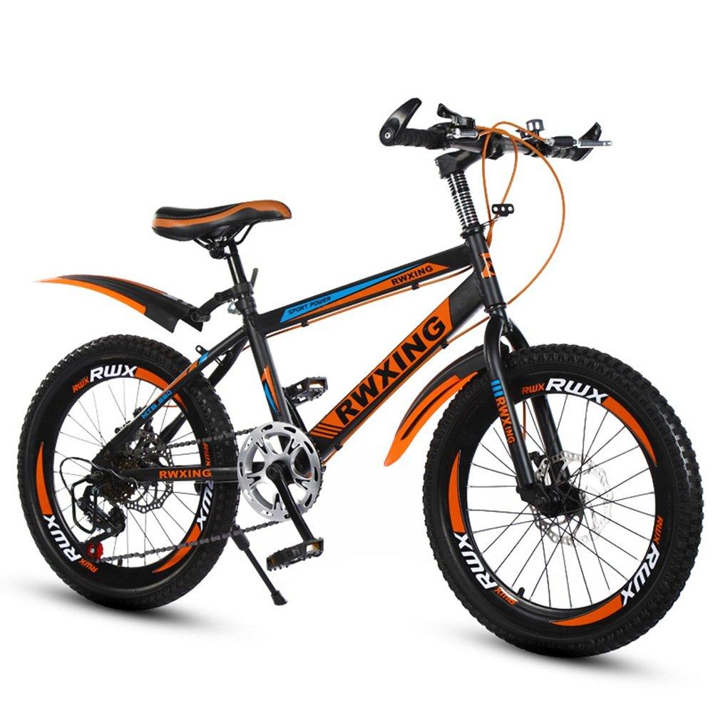 子供のスピードマウンテンバイク20/22インチディスクブレーキ自転車7-8-9-10-12-15歳小学校の自転車 ( 色 : オレンジ , サイズ さいず : 22 inches ) B07CNK1ZLQ 22 inches|オレンジ オレンジ 22 inches