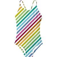 RAISEVERN Niñas Verano Natación Trajes de baño de una Pieza Traje de baño Playa Hawaiian Traje de baño 3-10 años