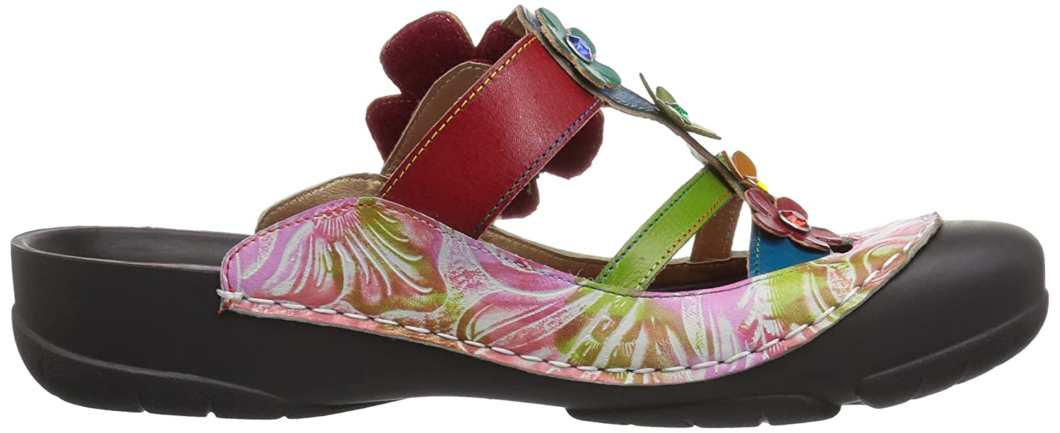 L'Artiste by Spring Step Women's Icaria Sandals B079NXK97G 39 M EU|Red/Multi