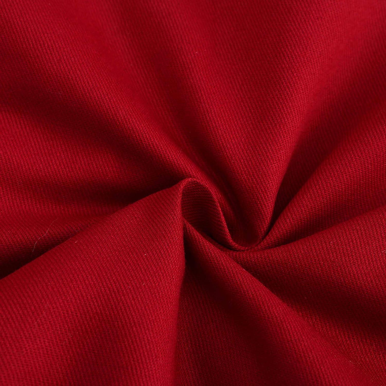 AOGOTO Women's Winter Plus Fleece Cotton Coat with Hat Fashion Casual Warm Long Jacket C-red