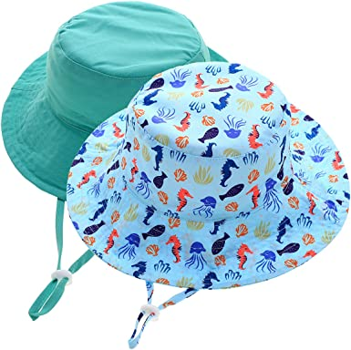 Sarfel Baby Girl Sun Hat Summer Baby Hats UPF 50+Toddler Sun Hat Infant with Wide Brim Bucket Hat