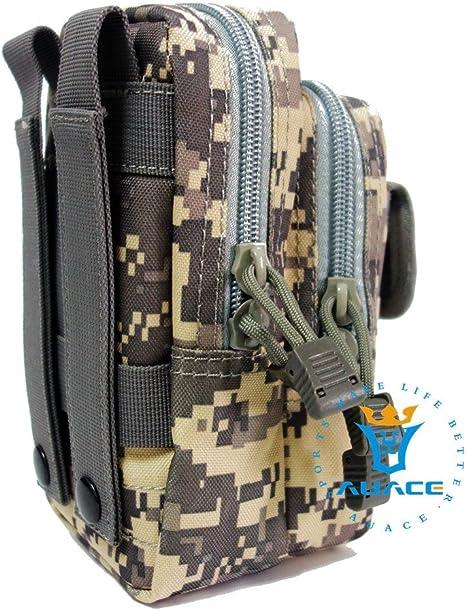 Multifunción Supervivencia Gear Tactical Carteras Carteras Molle Táctica cintura Pack, Camping Bolsa para herramientas Cintura Bolsa de viaje Phone Pouch, delete: Amazon.es: Deportes y aire libre