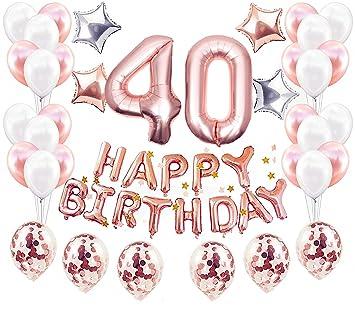 JeVenis 38 Piezas Decoraciones para el 40 cumpleaños ...
