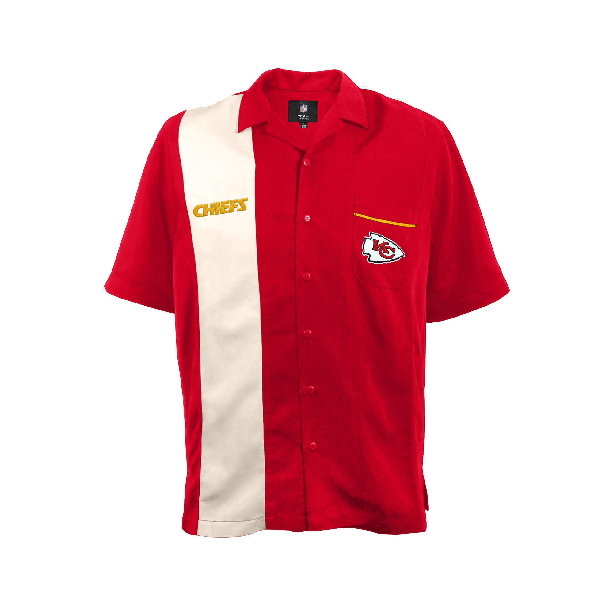 NFL Kansas City Chiefs Strike Bowling Shirt, Medium by Littlearth