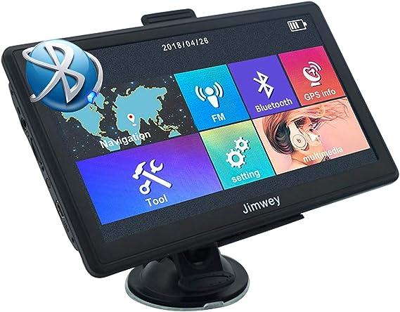 Bluetooth Navigationsgerät Für Auto Navigation Lkw Navi 7 Zoll Kostenloses Kartenupdate Mit Freisprecheinrichtung Poi Blitzerwarnung Sprachführung Fahrspurassistent 52 Europa Uk Karte Navigation