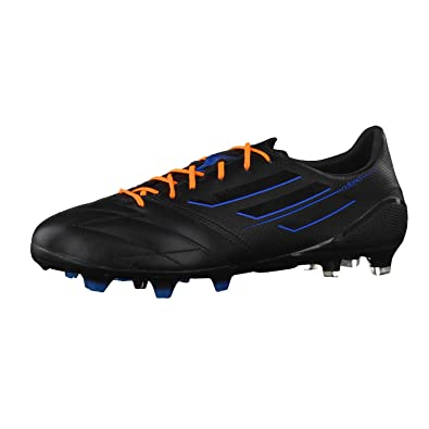 on sale 8955c db20b F50 Adizero TRX Leather Blackout FG Football Boots BlackBlackSolar Blue -  size 7.5 Amazon.co.uk Shoes  Bags