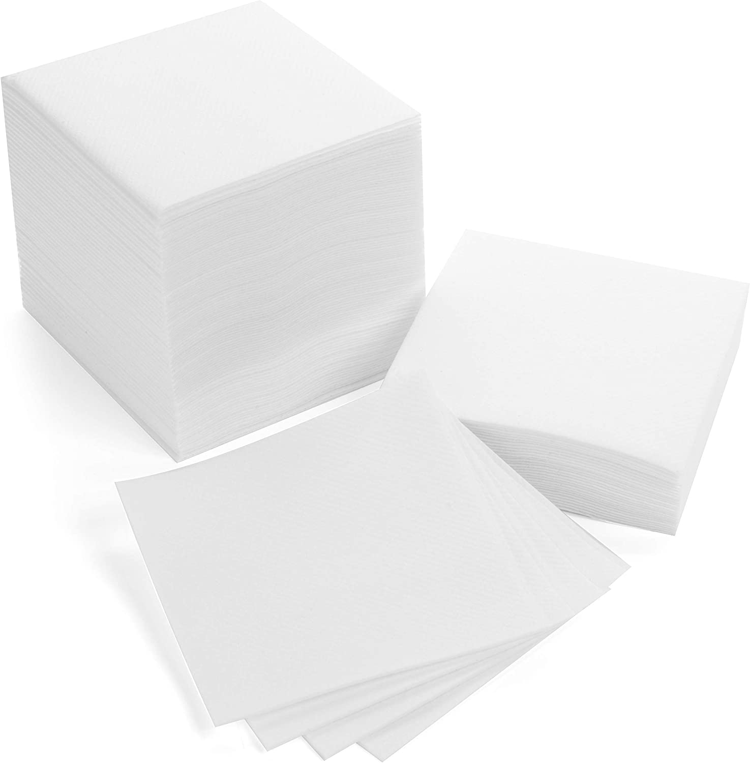 American Homestead Cocktail Napkins - Disposable Beverage/Bar Napkins - White Linen-Like Square Napkins - Eco-Friendly & Compostable - Everyday Use, Party or Wedding 4.75