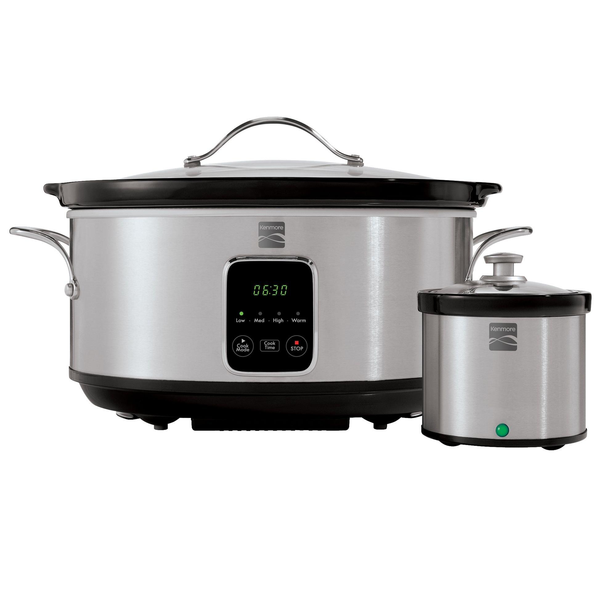 Kenmore 80010 7 Quart Slow Cooker with Dipper in Stainless Steel