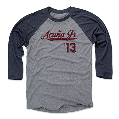 430999bab22 Amazon.com   500 LEVEL Ronald Acuna Jr. Baseball Tee Shirt - Atlanta ...