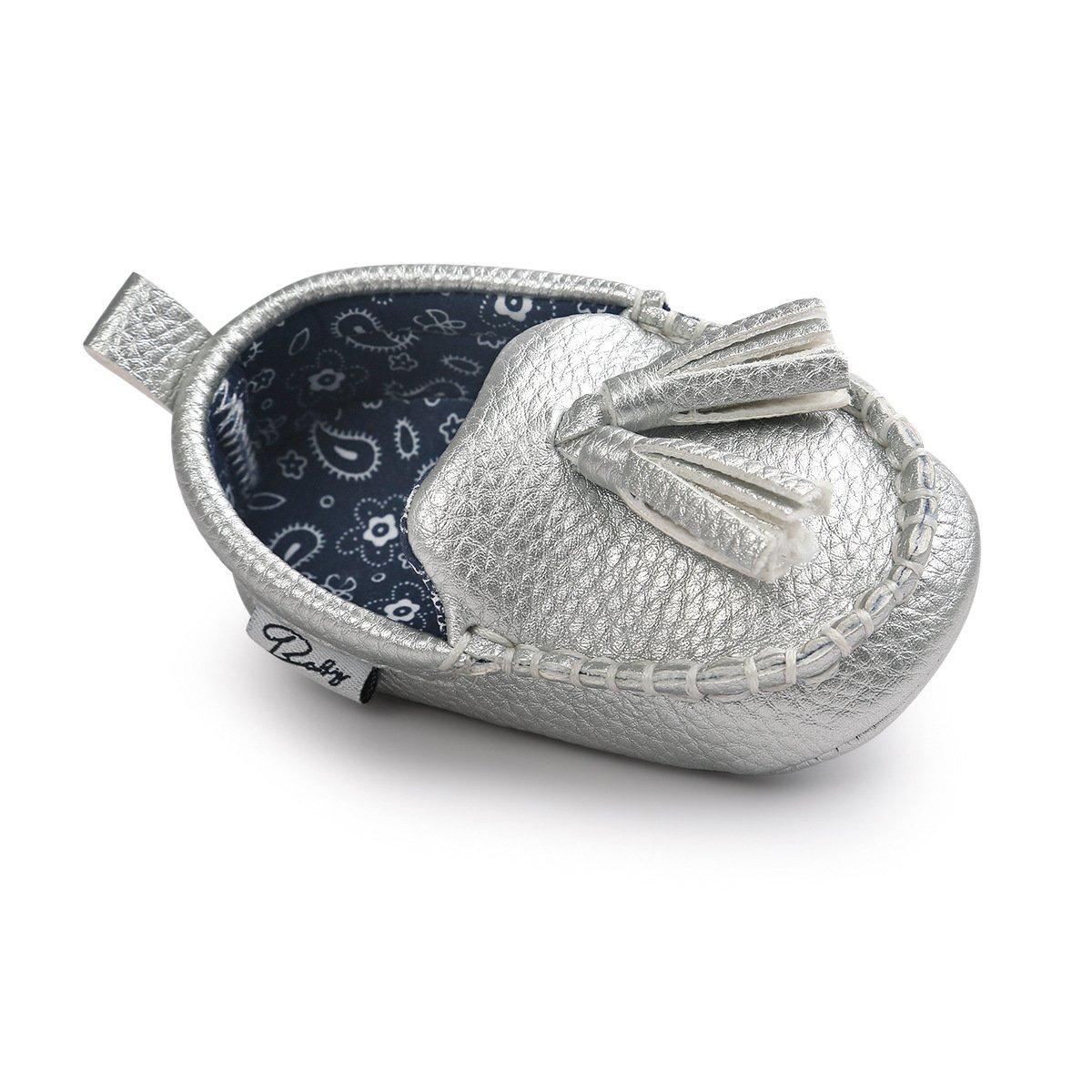Meckior Newborn Infant Baby Girls Boys Tassels Soft Sole Penny Loafers Shoes Prewalker Moccasin