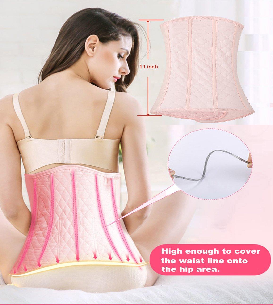Chongerfei Postpartum Support Recovery Belly Wrap Waist Trainer Belt Body Shaper Postnatal Shapewear (Pink, Postpartum Waist 34\