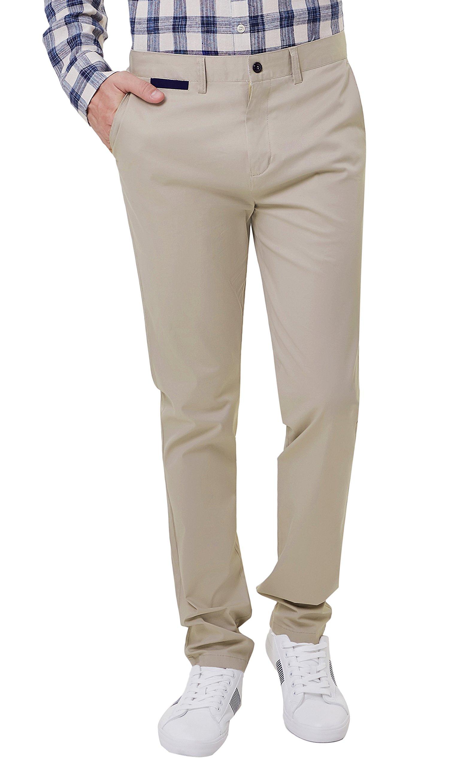 PAUL JONES Men's Stretchy Slimming Tapered Business Casual Work Pant Size XXL Light Khaki