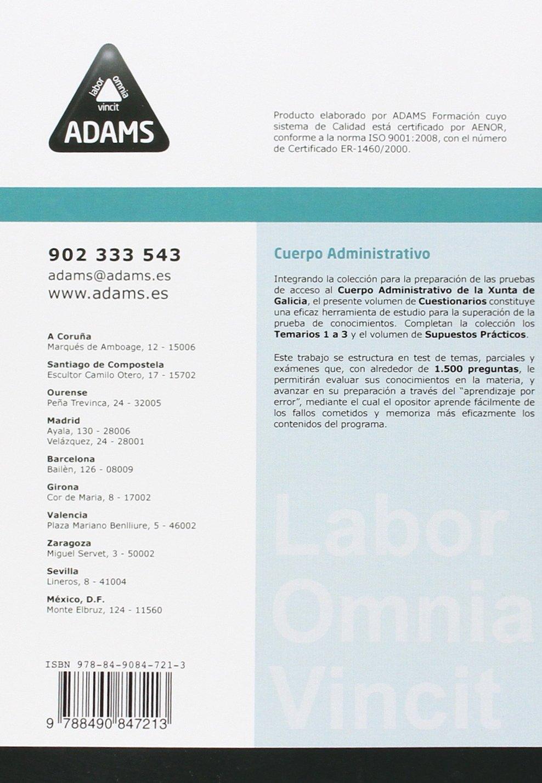 Cuestionario Administrativos De La Xunta De Galicia Amazon