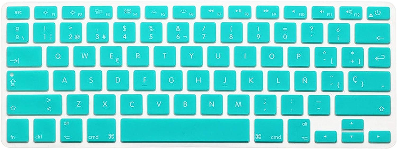 for MacBook Air Pro Retina 13 15 Silicon Black Keyboard Skin Cover Us ES Spain Spanish Laptop Keypad Protector Film-Black
