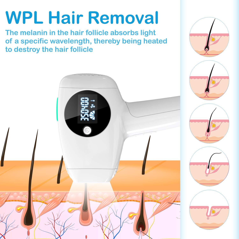Amazon.com: Eliminador de pelo facial y corporal láser para ...