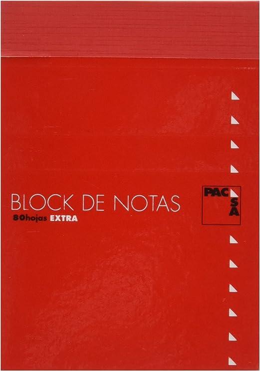 Pacsa 18906 - Bloc de notas con tapa, tamaño 1/16, 80 hojas cuadriculadas: Amazon.es: Oficina y papelería