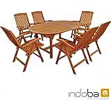 "Indoba Gartenmöbel Set, 7-teilig""Sun Flair"" - Gartenset - Serie, braun, 220 x 110 x 74 cm, IND-70010-SFSE7"