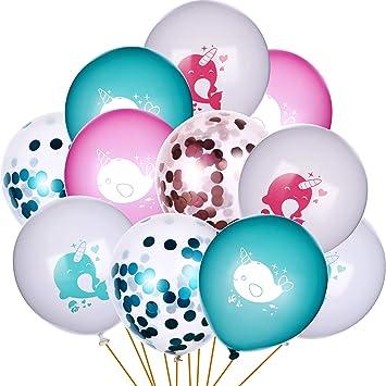 Amazon.com: Norme - Globos de narwhal para cumpleaños, 30 ...