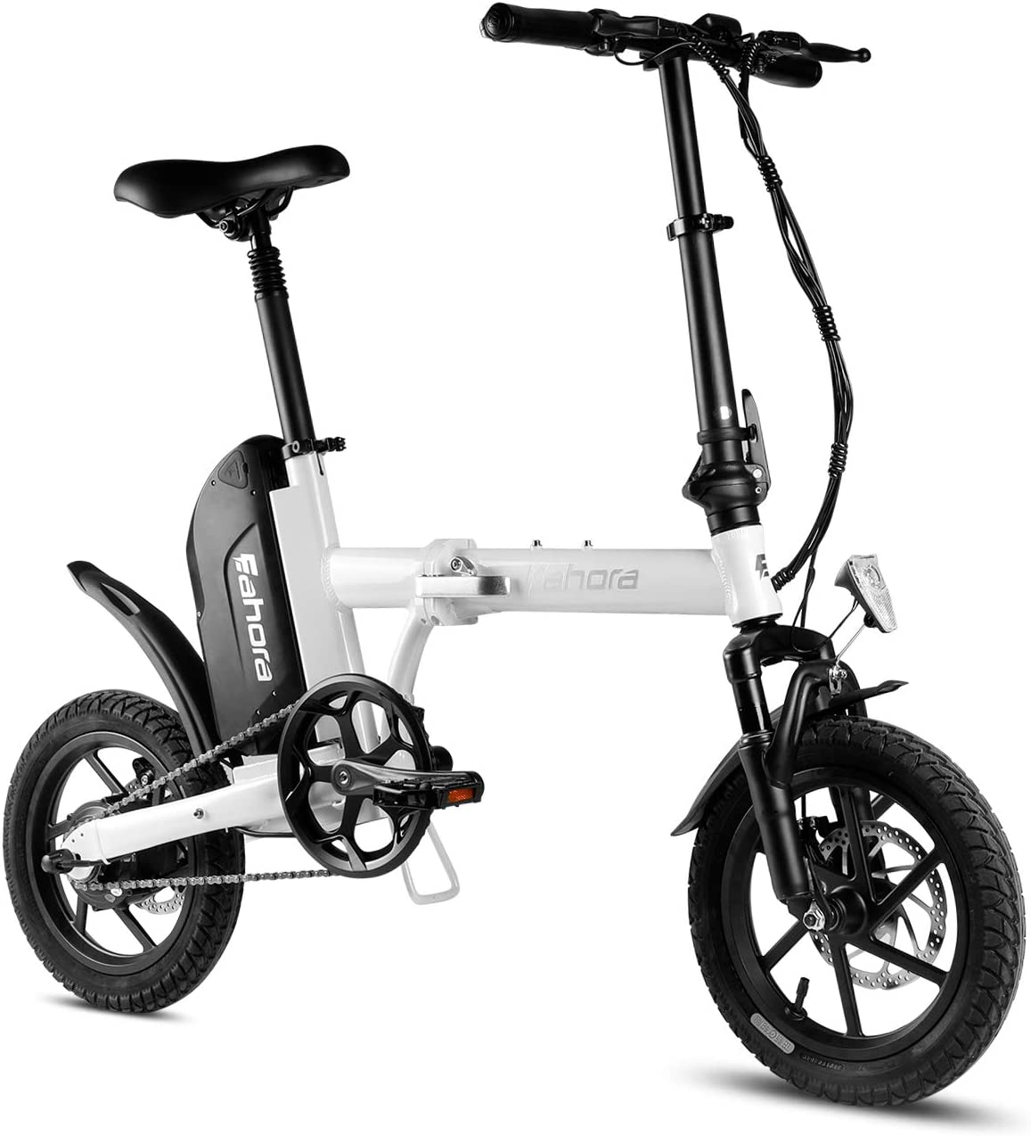 Eahora X3 Folding Electric Bike 14 Inch Mini Electric Bicycle 36V 10.4Ah Removable Lithium-Ion Battery 350W Motor 3 Modes Energy Saving Transmission System