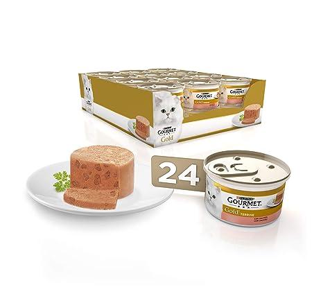 Purina Gourmet Gold Tarrine comida para gatos con Salmón 24 x 85 g