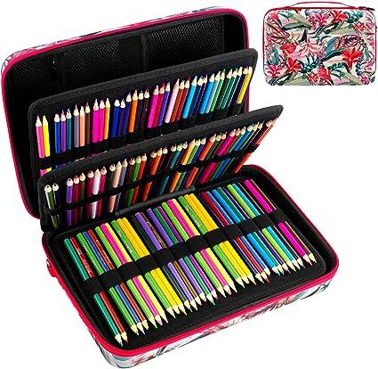 Estuche grande para guardar lápices, con capacidad para más de 240 lápices de colores, estuche compatible