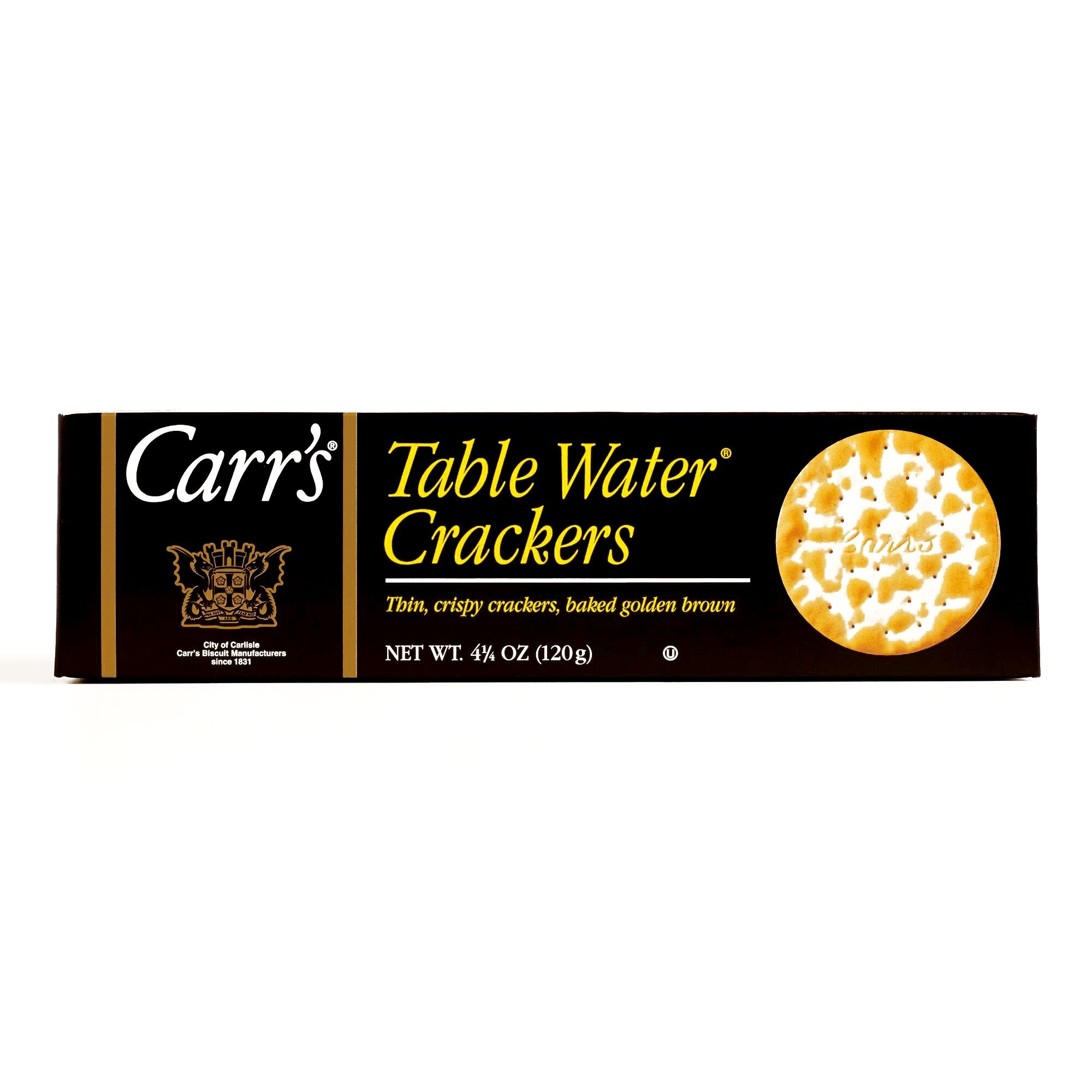 Carr's Table Water Crackers 4.25 oz each (6 Items Per Order)