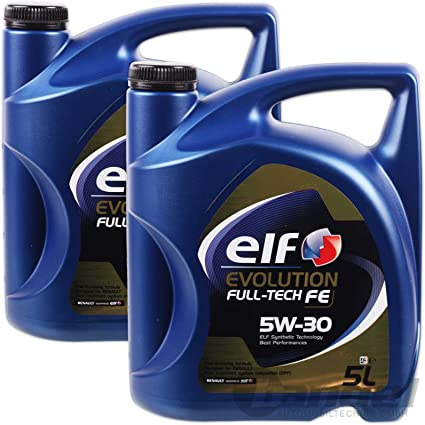 aceite motor ELF EVOLUTION Full-Tech FE 5W-30 5 litros (10 ltrs ...