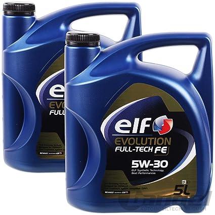 aceite motor ELF EVOLUTION Full-Tech FE 5W-30 5 litros (10 ltrs ...