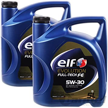 aceite motor ELF EVOLUTION Full-Tech FE 5W-30 5 litros (10 ltrs=2 x 5 L)