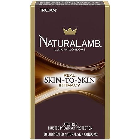 Amazon.com  Trojan NaturaLamb Latex Free Luxury Condoms, 10ct  Health    Personal Care 16c9c3bc330