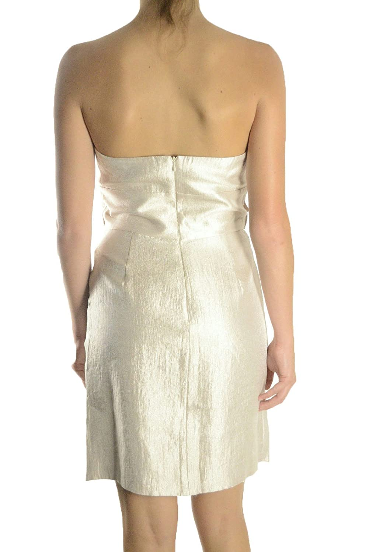 46734898f197f Amazon.com: Max & Cleo Women's Strapless Metallic Taffeta Pleated Dress,  Champagne, 8: Clothing
