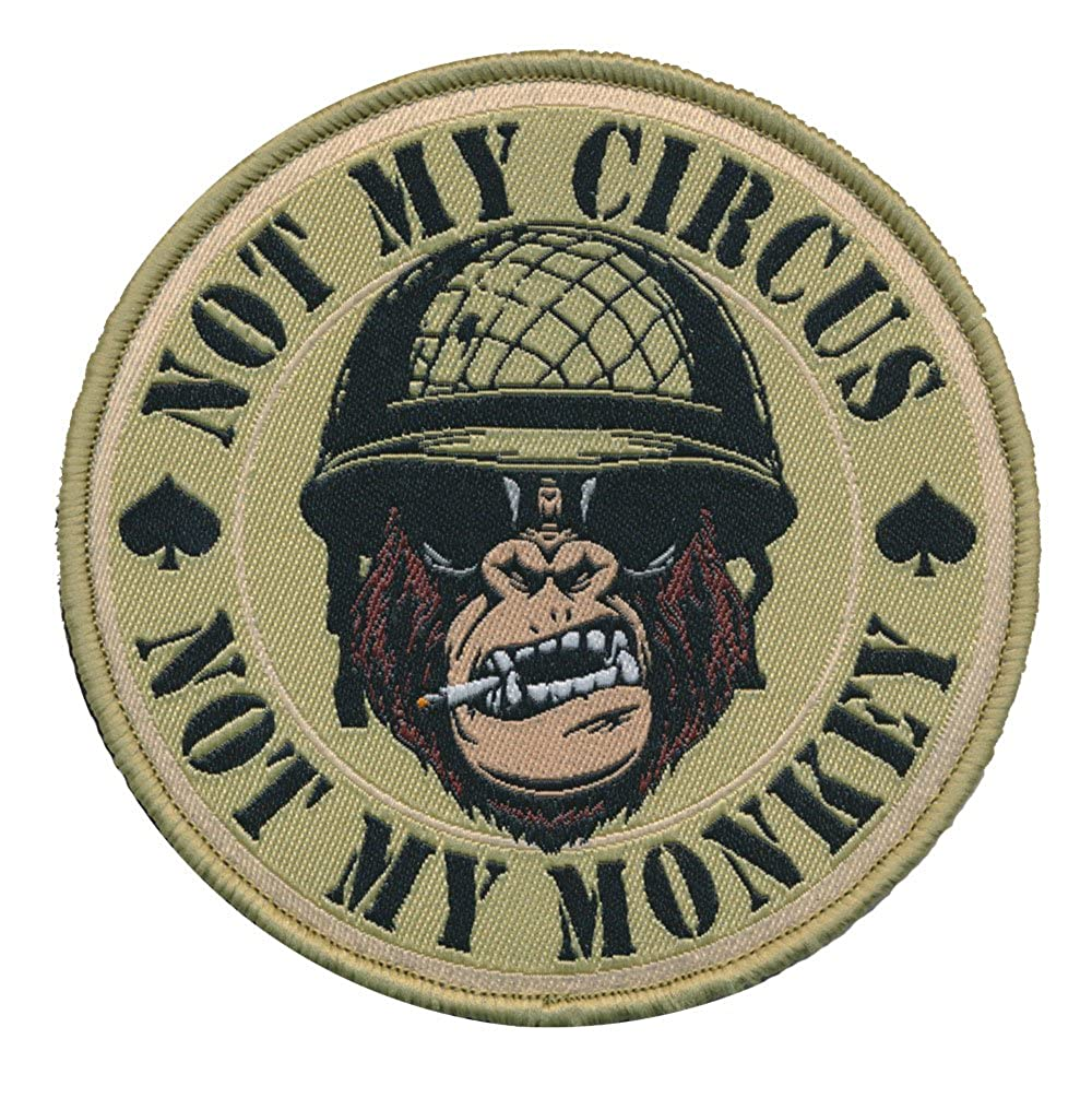 Patch Squad Men\'s Not My Circus Not My Monkey Victory Ape Patch (Multitan)