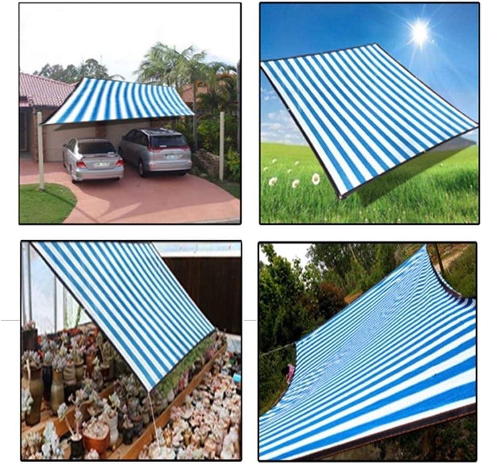 GHHZZQ toldo de Tela para Sombra de toldo, protección Solar Anti-UV, Aislante térmico, para Exteriores, Patio, balcón, Techo, Tiras Azules, 20 tamaños: Amazon.es: Hogar