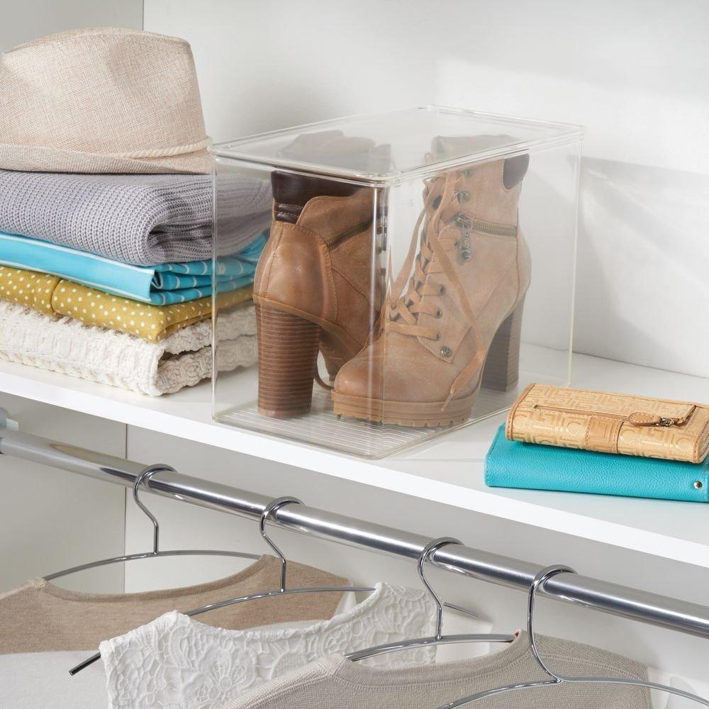 Nice Amazon.com: InterDesign Closet Storage Organizer Shoe Box, For High Heels,  Tall Pumps, Boots   Clear: Home U0026 Kitchen