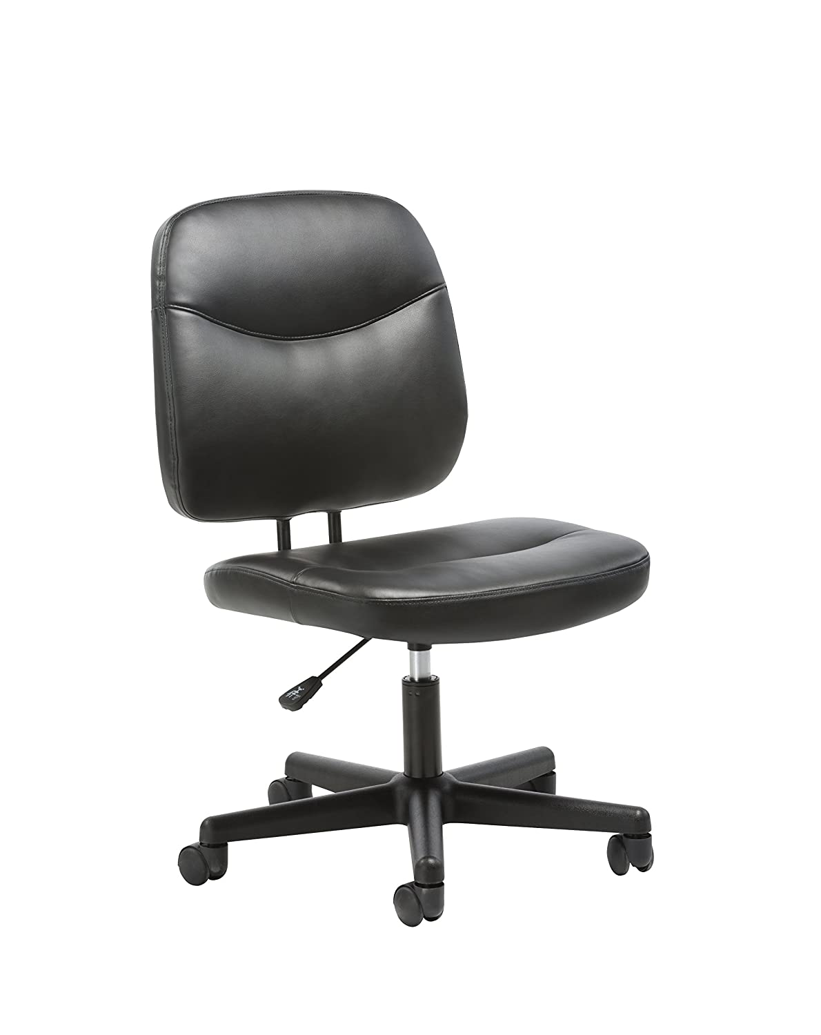 Essentials Leather Task Chair - Ergonomic Adjustable Office Chair, Black (ESS-6005)