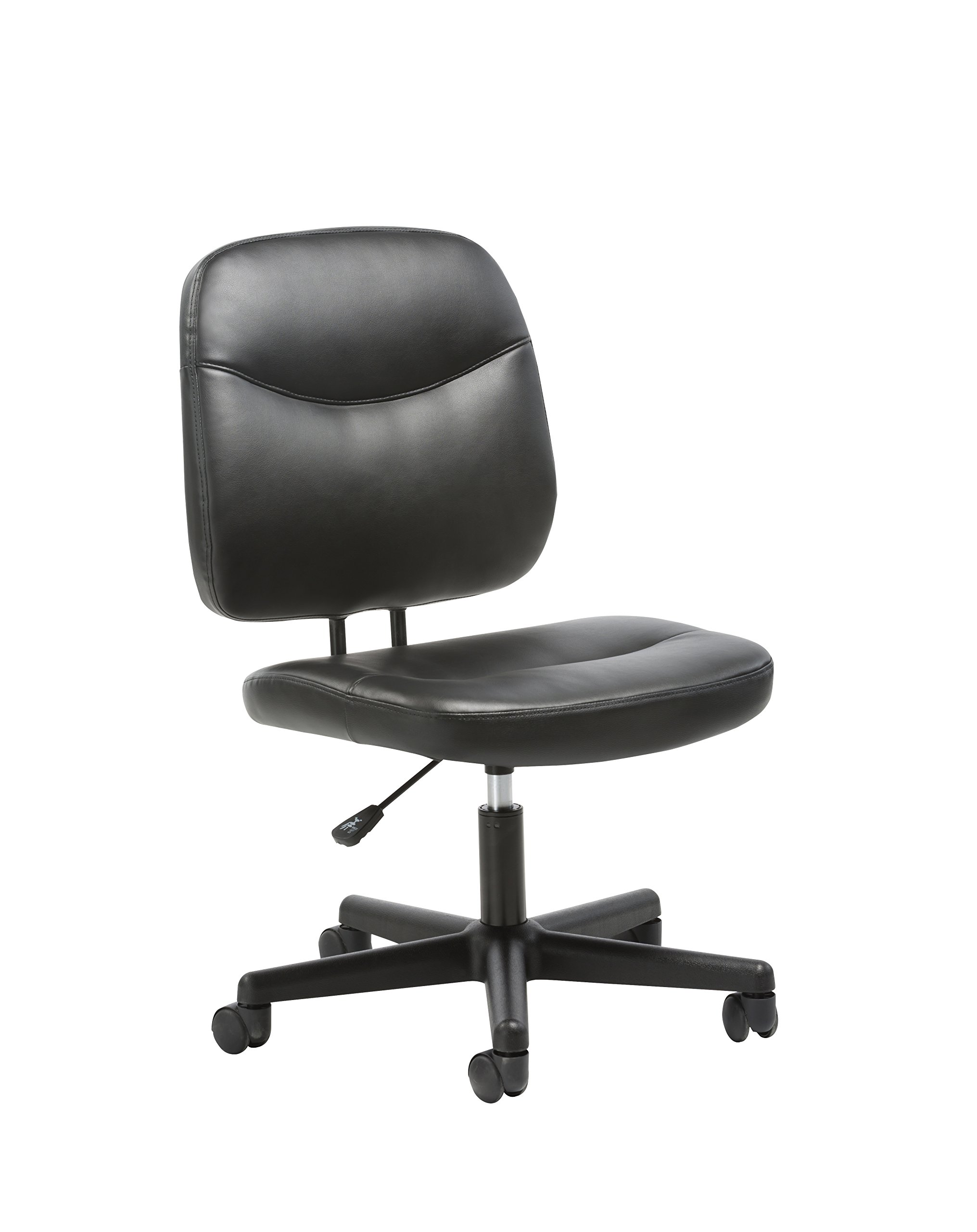Essentials Leather Task Chair - Ergonomic Adjustable Office Chair, Black (ESS-6005) by OFM